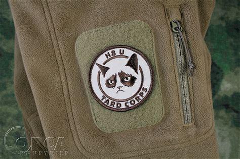 Grumpy Cat Patch grumpy cat tard corps morale patch desert velcro