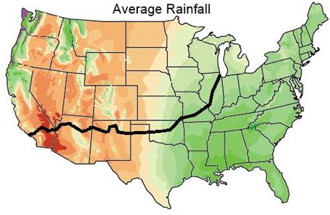 map us rainfall weather on route 66