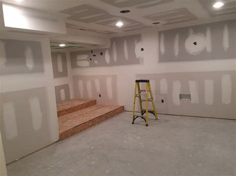 Painting Drywall by Residential Basement Buildout And Remodel In Flanders New
