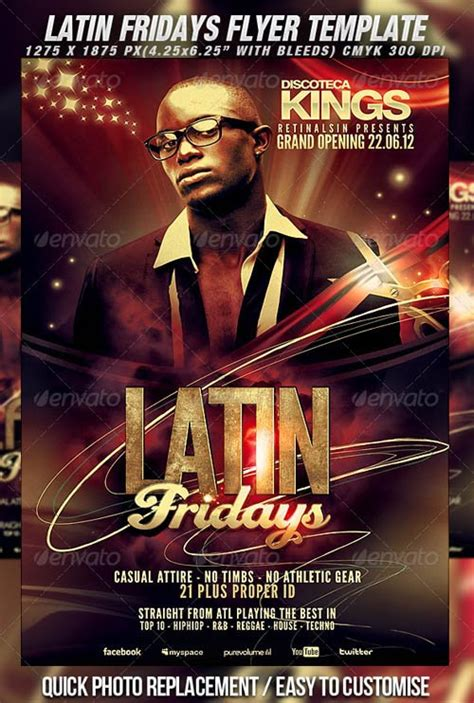 flyer templates graphicriver latin fridays flyer
