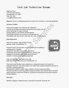 Sle Resume For Lab Technician by Resume For Lab Technician Sales Technician