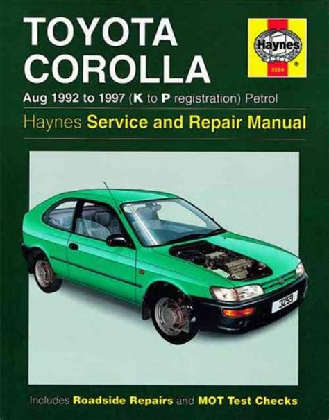toyota corolla e11 haynes owners workshop manual