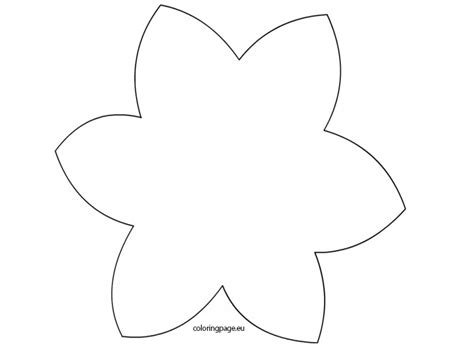 template of a daffodil simple daffodil coloring flower templates grig3 org