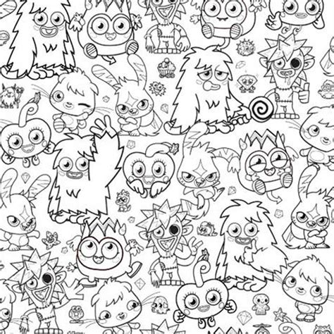 free printable coloring pages of monsters moshi monster coloring pages free large images