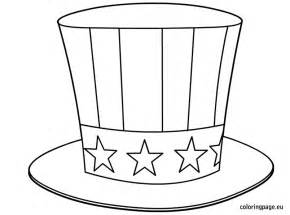 Sam Hat Coloring Page sam s hat coloring page 4th of july