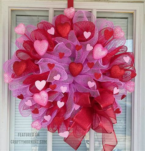 valentines mesh wreath how to make a deco mesh wreath crafty morning