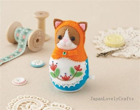 design your own russian doll felt clockwork toy russian matryoshka doll kitty cat