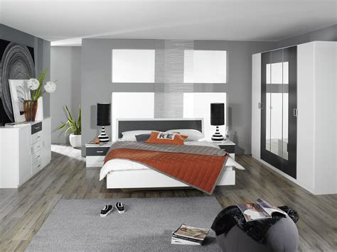 chambres but chambre adulte design blanche et grise selenia chambre