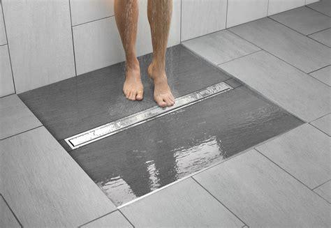bathroom floor drain kerdi line brings more choices to the linear drain