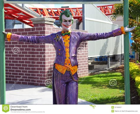 themes in australian film the joker figure in theme park editorial photography