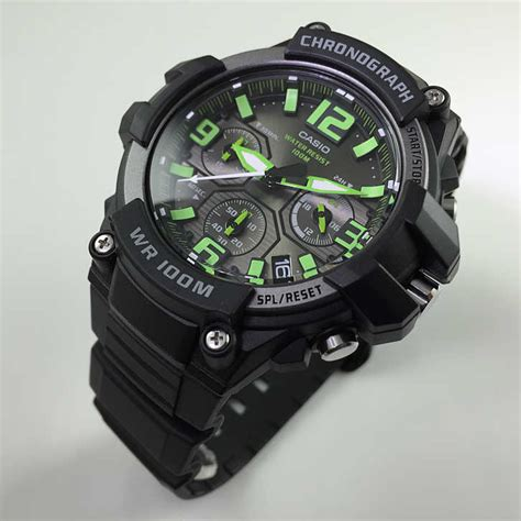 s casio chronograph heavy duty sports mcw100h