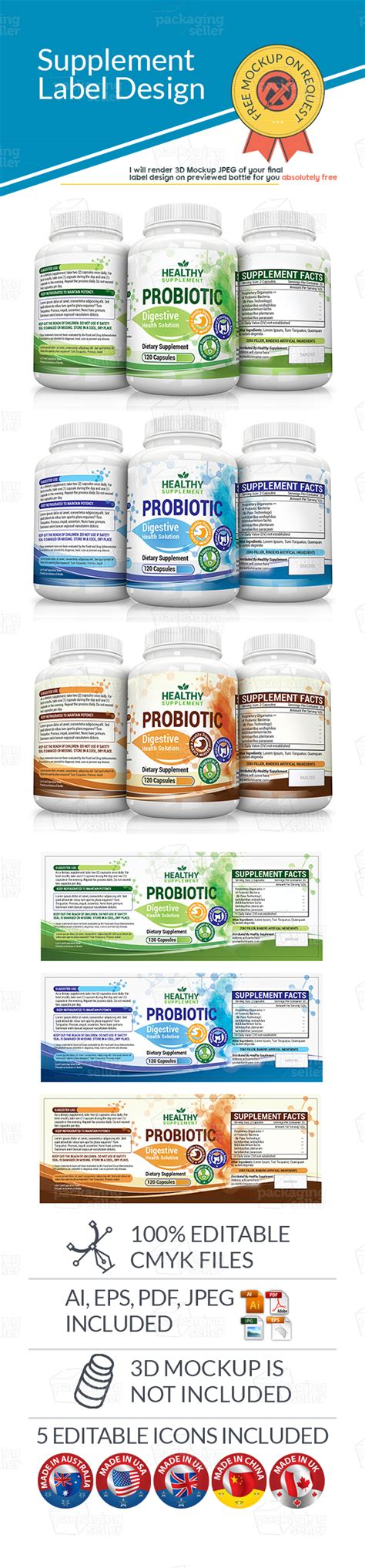 dietary supplement label template dietary supplement label as 09 packaging seller
