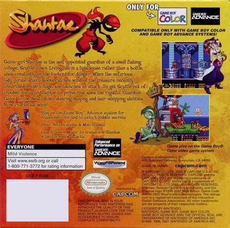 shantae gameboy color shantae box for boy color gamefaqs