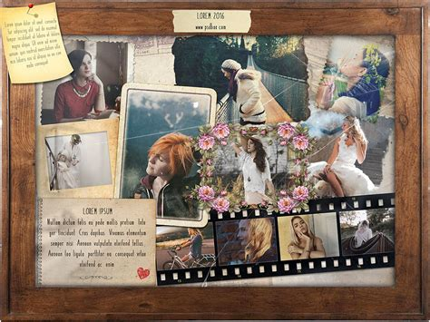 vintage collage photoshop template free design resources
