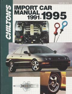 what is the best auto repair manual 1995 mitsubishi mighty max seat position control 1991 1995 chilton s import auto repair manual