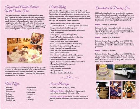 Wedding Planner Brochure by Event Planner Brochure Narcisos Printing Inc
