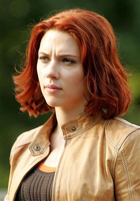 scarlett johansson red hair haircutecuts