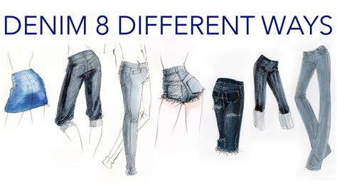 fashion illustration denim fashion illustration tutorial denim done 8 different ways