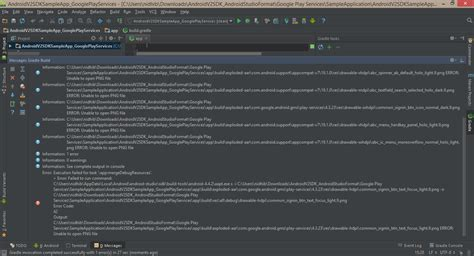 gradle android gradle android studio execution failed for task app mergedebugresources if project is