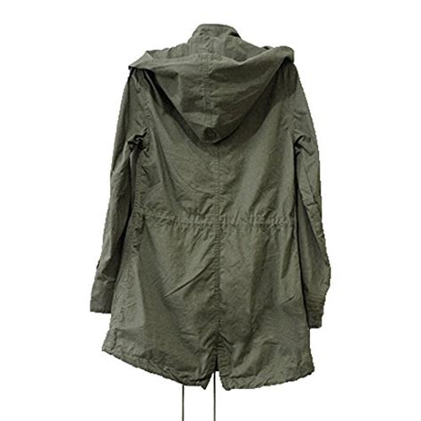 Jaket Parka Green Army Jaket Parka Jumbo Parka Cotton Premium new s hooded drawstring jacket parka coat army green s m l xl ebay