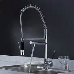 superb Changing A Kitchen Sink Faucet #3: Solid_Brass_Spring_Kitchen_Faucet_with_Two_Spouts_(Chrome_Finish).jpg