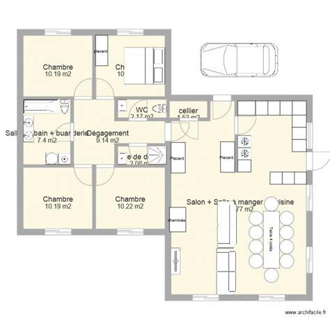 plan maison plain pied 1 chambre plan maison 1 chambre plain pied