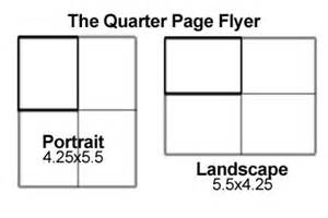 quarter page flyer template downloadable file templates coolprinting