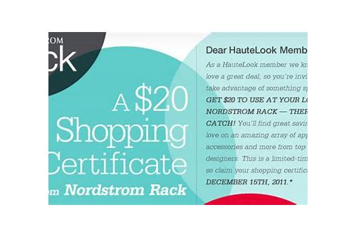 nordstrom rack coupons in store