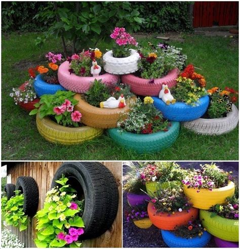 How To Make Tire Planters by 20 Diy Ideas To Repurpose Tires For Home And Garden
