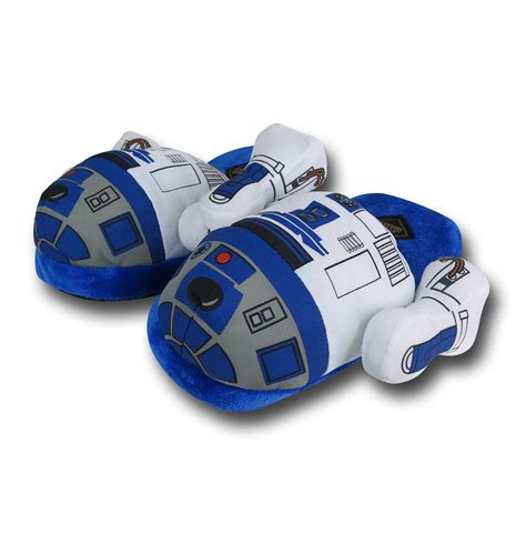 slippers wars wars r2 d2 plush slippers