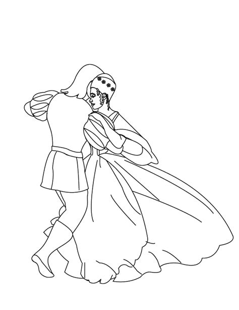 Coloring Pages Couple Dancing1 And The 12 Princesses Coloring Pages