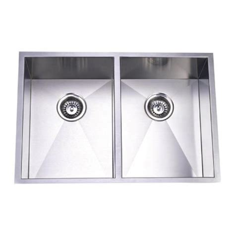 29 inch stainless steel undermount 50 50 bowl