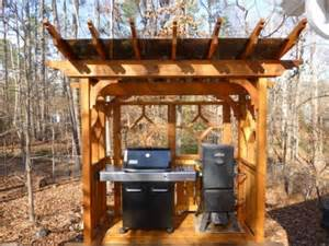 Diy Arbor Trellis by Picture Of Cedar Pergola Grill Area With Plexiglass Roof