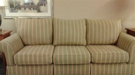 green and white striped couch green red cream striped sofa delmarva furniture consignment