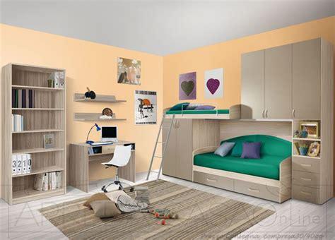 scrivania con libreria per cameretta cameretta bambini soppalco olmo visone con scrivania e
