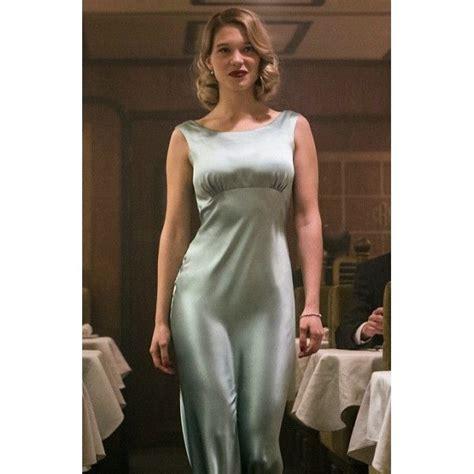 lea seydoux dress spectre lea seydoux madeleine swann dusty green dress in 007 the