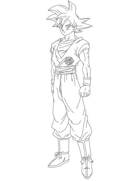 goku super saiyan god coloring coloring pages