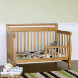 Convertible Baby Crib Davinci Emily 4 In 1 Convertible Baby Crib In Oak W Toddler Rail M4791o