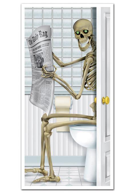 skeleton bathroom accessories skeleton bathroom door cover funny halloween decorations