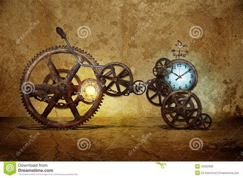 time with a time machine stock photo image 42922608