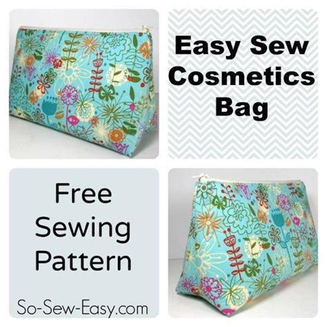 free pattern makeup bag easy cosmetics bag craftsy