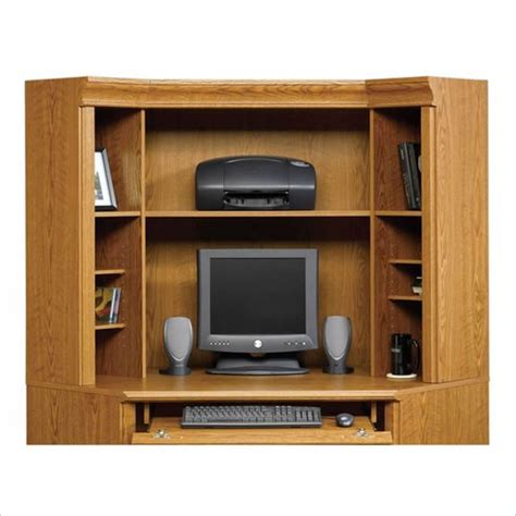 Small Corner Computer Armoire by Corner Desk Hutch Small Corner Computer Desk With Hutch
