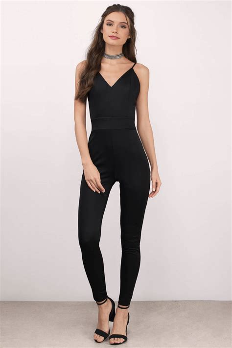 Jump Suit black jumpsuit sleeveless jumpsuit high waisted