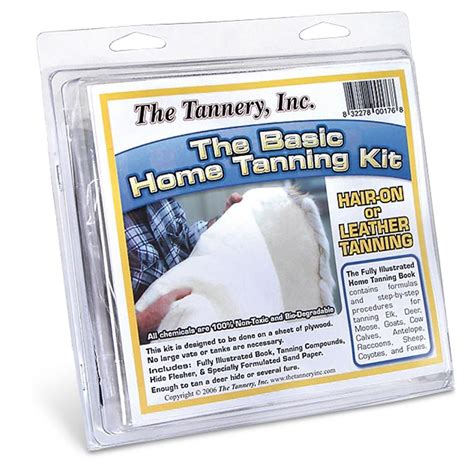 The History Of Whitening Basic Kit basic home tanning kit 140260 taxidermy at sportsman s guide