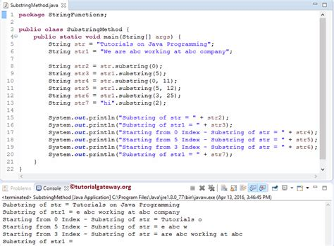 java substring method