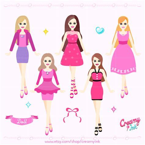 fashion doll vector doll digital clip fashion dolls digital clipart design