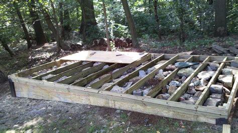 build  level shed tiny houses barn foundation platform