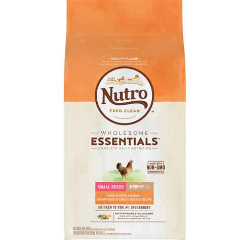 nutro small breed puppy food nutro whole essentials small breed chicken whole brown rice oatmeal puppy 8 lb