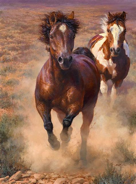 painting workshop horses into the great wide open by bonnie marris limited edition