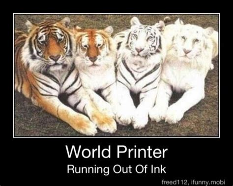 Ink Out Of by Tiger Pictures With Captions World Printer Running Out Of Ink Tiger Picture